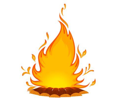 468x408 Bonfire Clipart Marshmallow