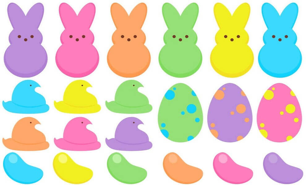 990x600 Free Printable Peeps Coloring Pages