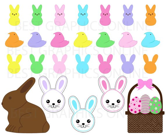 570x465 80% Off Sale Chocolate Easter Bunny Clip Art Peeps Easter