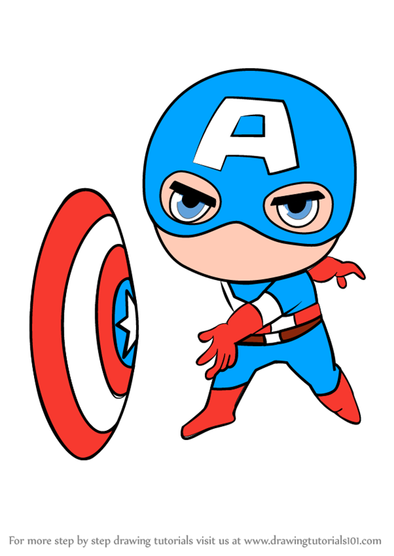 567x800 Captain Marvel Clipart Chibi