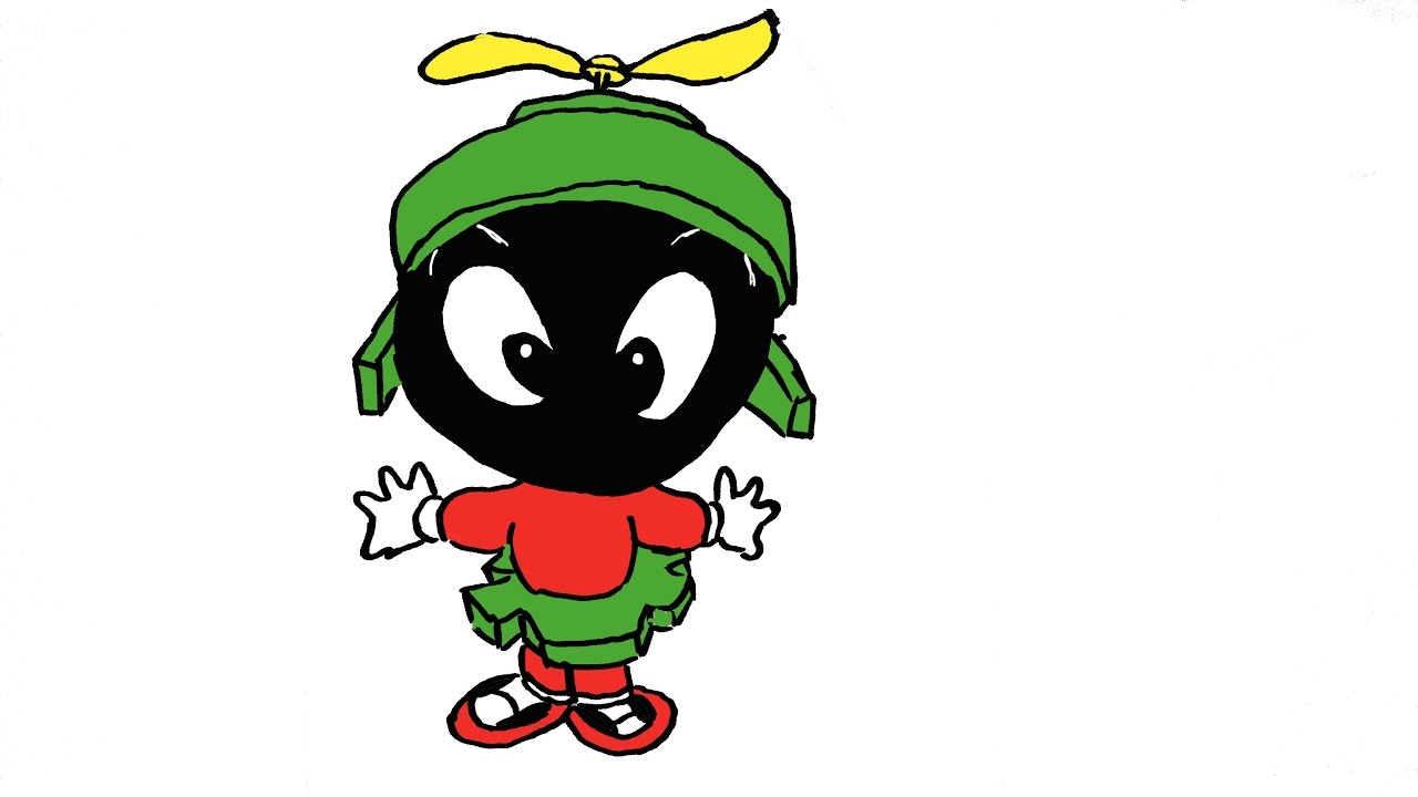 1280x720 How To Draw Baby Marvin The Martians (Looney Tunes)