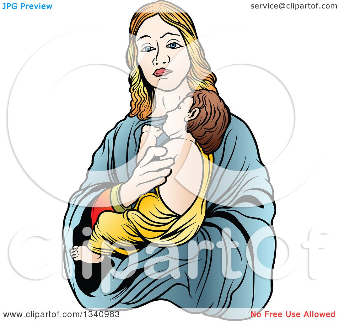 1080x1024 Clipart Of A Virgin Mary Holding Baby Jesus 3