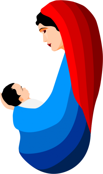 356x600 Mary And Jesus Clipart Nice Clip Art Png