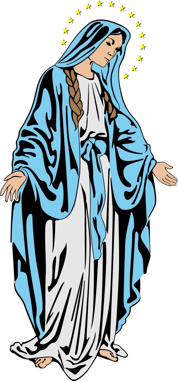 704x1500 Virgin Mary Clipart