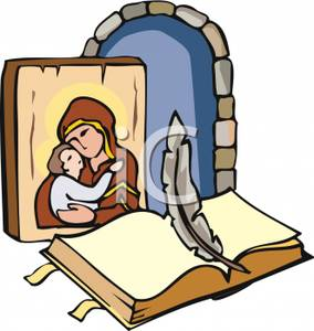 284x300 A Photo Of Mary And Jesus And The Bible