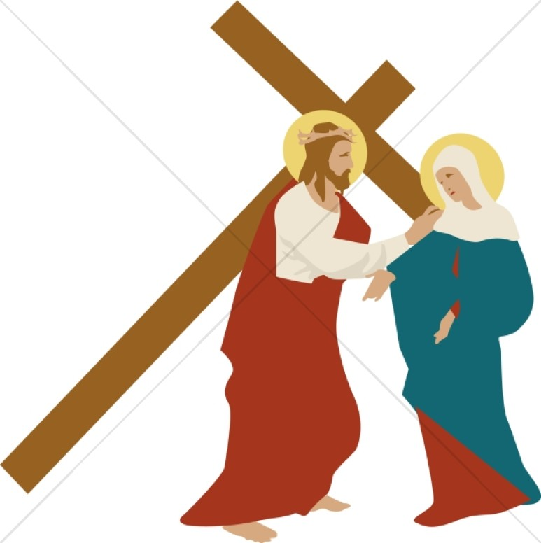 773x776 Christ Consoles Mary