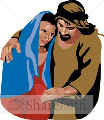 334x388 Mary And Joseph Portrait Nativity Clipart