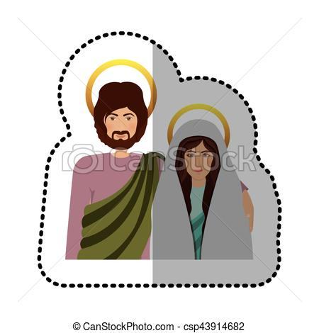 450x470 Sticker Half Body Picture Medium Shade Of Virgin Mary
