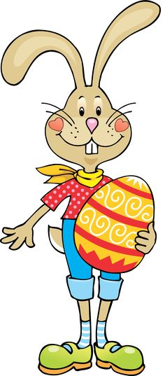 236x537 Easter Bunny Holding A Big Easter Egg. Easter Clipart Ideas