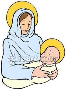 225x300 Mary And Baby Jesus Clipart Group