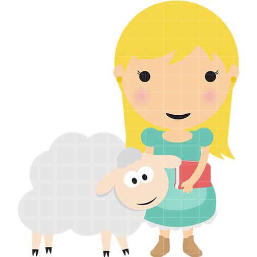 504x504 Mary Had Little Lamb Clipart