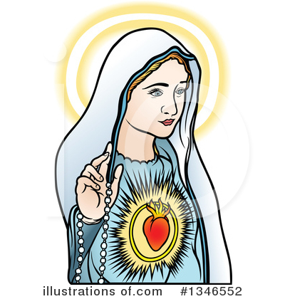 400x420 Virgin Mary Clipart