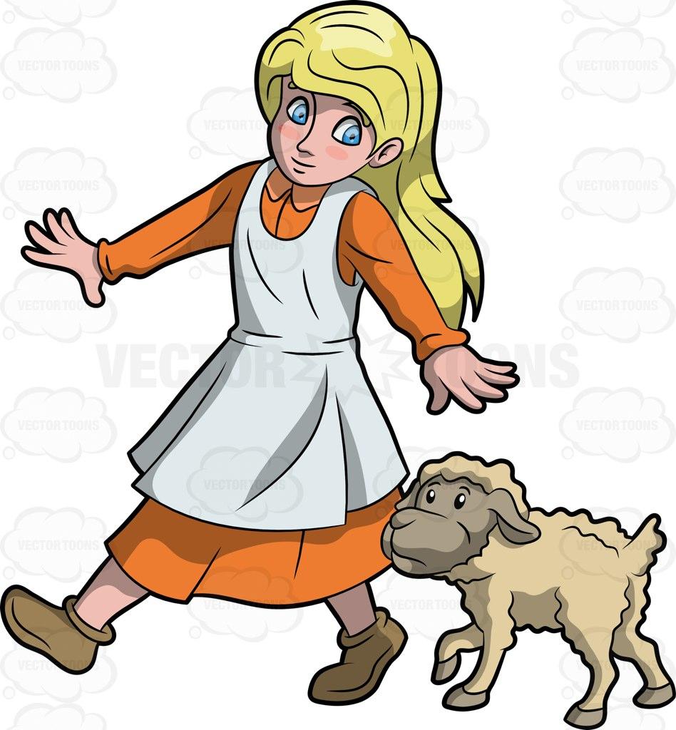 948x1024 Mary Had A Little Lamb Cartoon Clipart Vector Toons