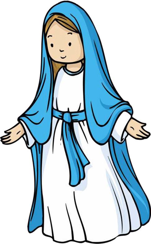 486x785 Flanelplaat Maria Maria Og Jesus, Og Motiver Fra