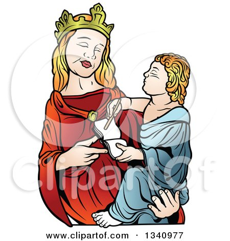 450x470 Royalty Free (Rf) Clipart Of Mary Mother Of Jesus, Illustrations