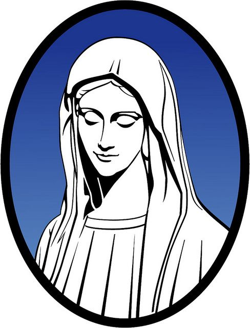 488x640 Mary Mother Of Jesus Vector Illustration. Religious Free Vectors