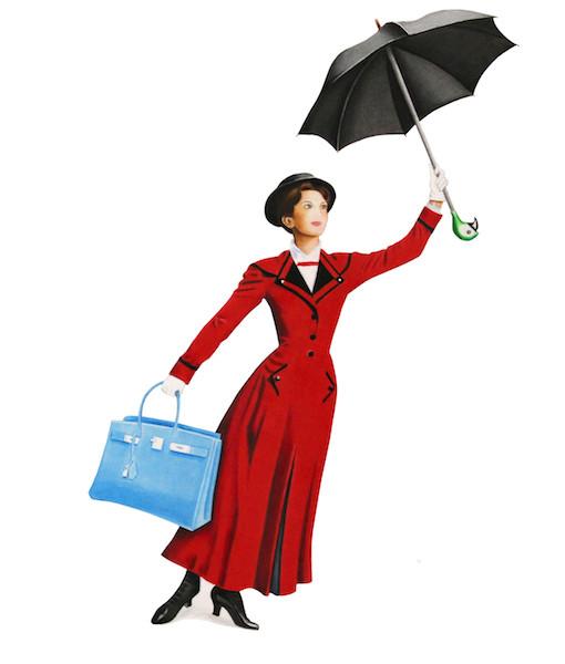 510x600 Mary Poppins (Framed)