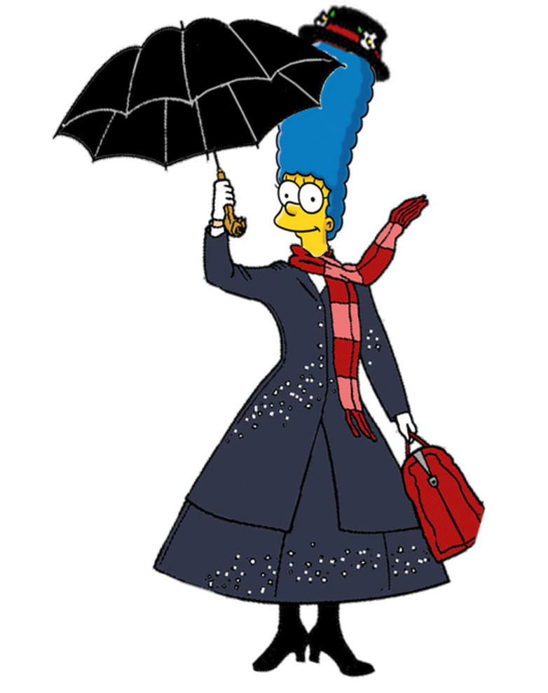 782x990 Marge Simpson As Mary Poppins By Darthranner83