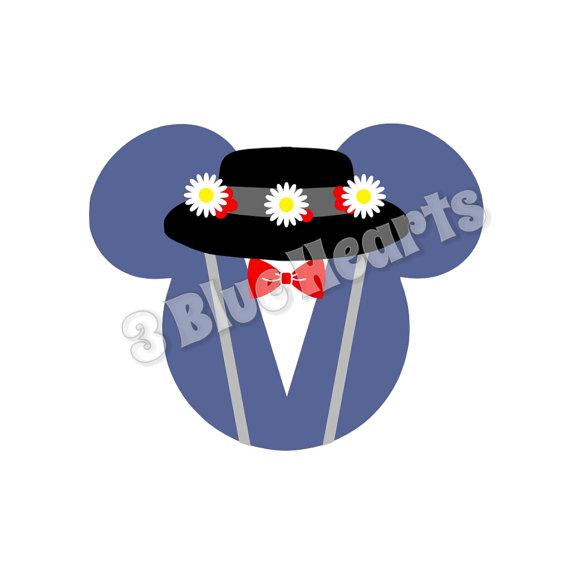 570x570 Mary Poppins Mickey Head Svg Dxf Pdf Studio, Disney Svg Dxf Pdf