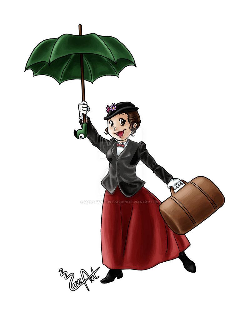 774x1032 Mary Poppins By Marart Illustrazioni