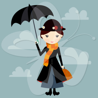 336x336 Nanny. Mary Poppins Clip Art Clipart Panda