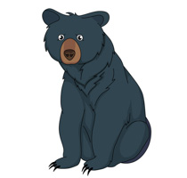 210x200 Clip Art Black Bear Kisspng Polar Bear American Black Bear