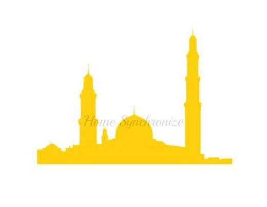 520x403 Mosque Silhouette Stencil Islamic Stencil Masjid Stencil Products