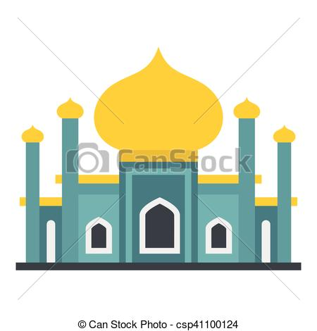 450x470 Muslim Mosque Icon, Flat Style. Muslim Mosque Icon. Flat Vector
