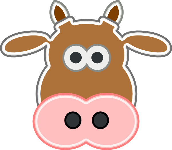 600x524 Cow Mask Clipart Nose