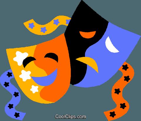 480x412 Drama Mask Clipart