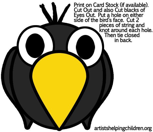 607x525 Masks Clipart Crow