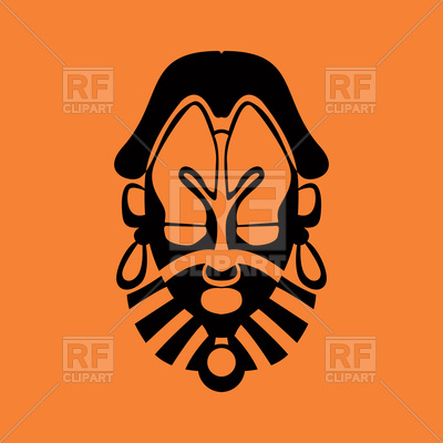 400x400 Tribal Mask Icon Royalty Free Vector Clip Art Image