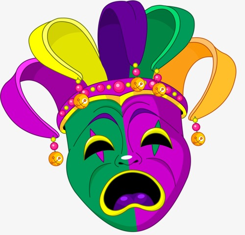 500x480 Clown Mask, Masquerade, Dance Mask, Disguise Png Image And Clipart