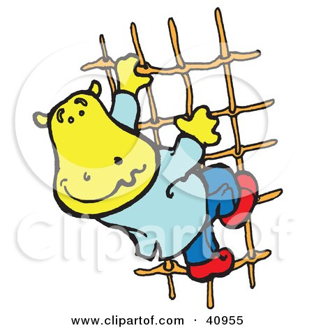 450x470 Clipart Illustration Of Yellow Hipportist Painting
