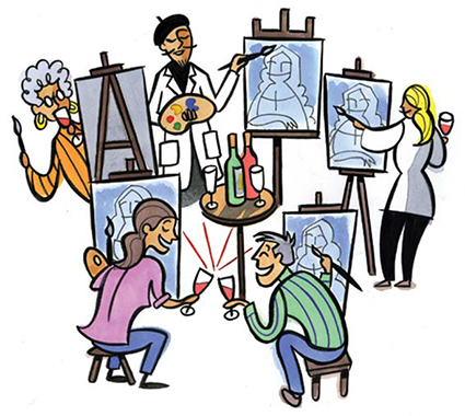 425x380 Social Painting With Paint Nite And Muse Paintbar