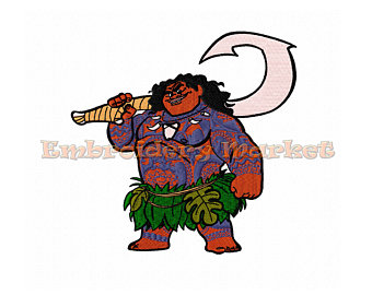 340x270 Moana Maui Embroidery Designs All Formats From Crazyfortoons
