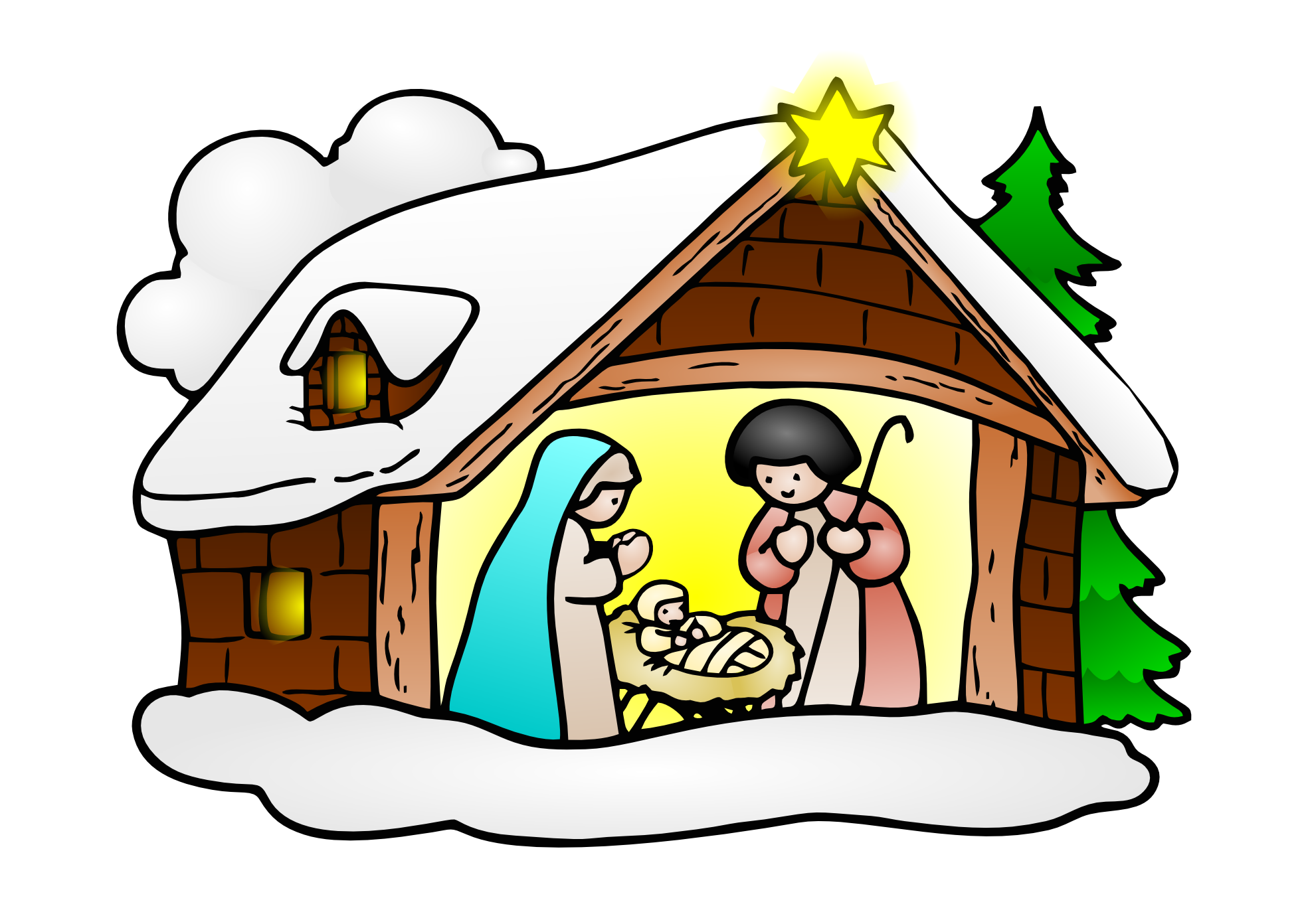 1969x1392 Free Christmas Religious Clip Art Amp Look At Christmas Religious