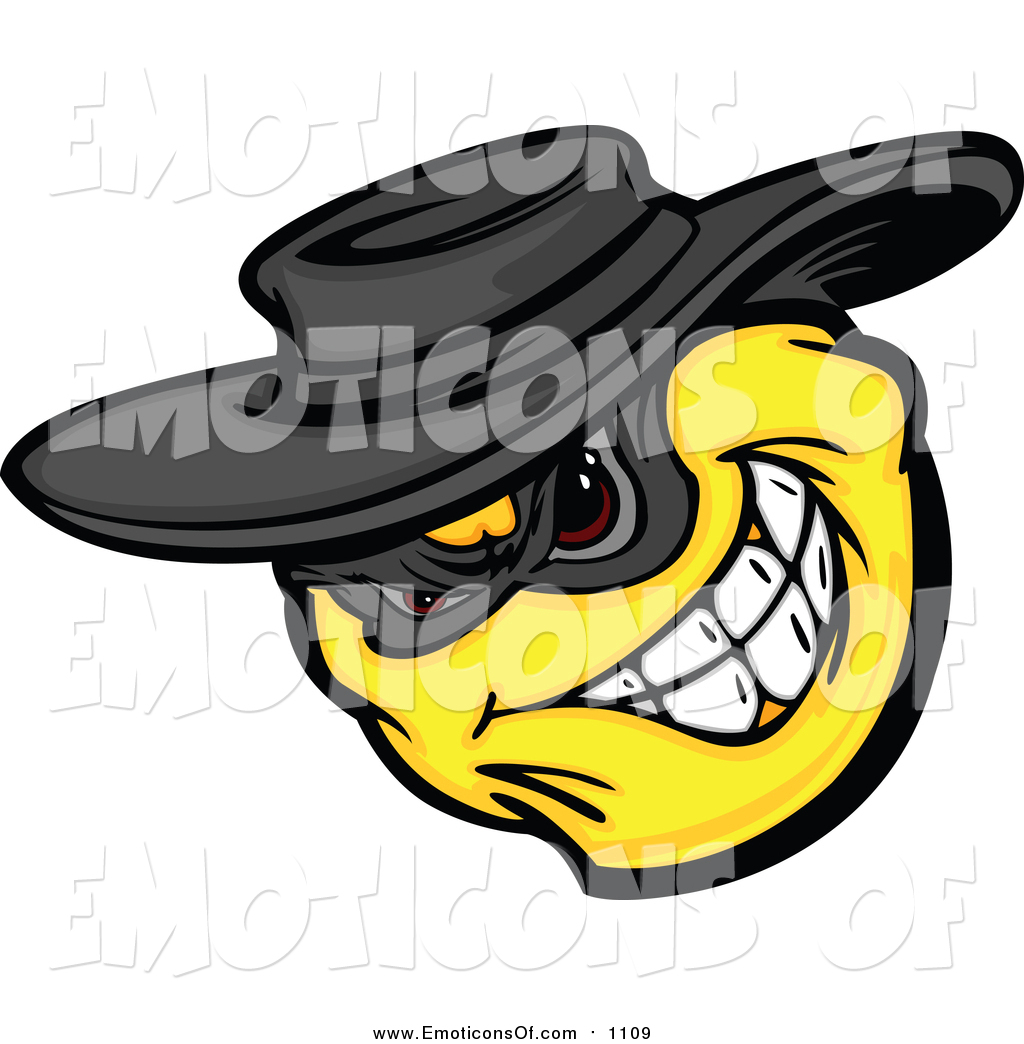 1024x1044 Clip Art Vector Cartoon Of A Yellow Emoticon Bandit Grinning By