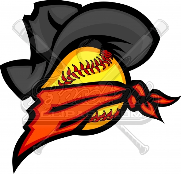 590x570 Bandit Softball Cowboy Clipart Logo With Cowboy Hat, And Bandana