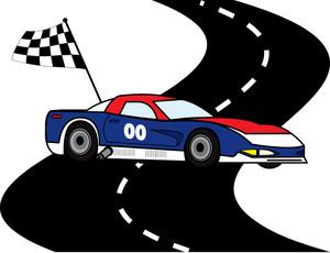 300x230 Cartoon Race Track Clip Art