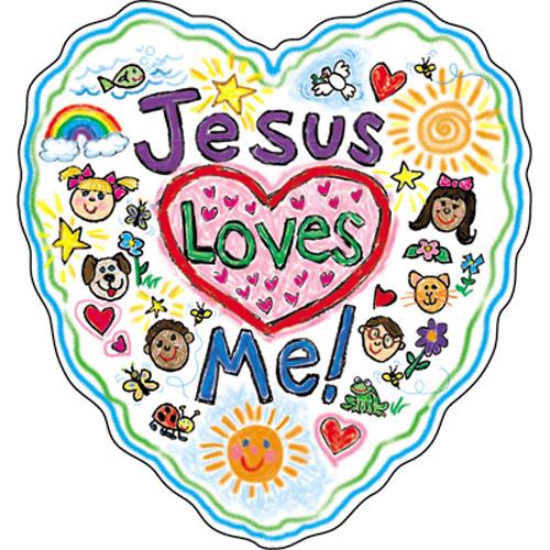 500x500 Adorable Jesus Loves Me Clipart