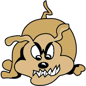 Mean Dog Clipart