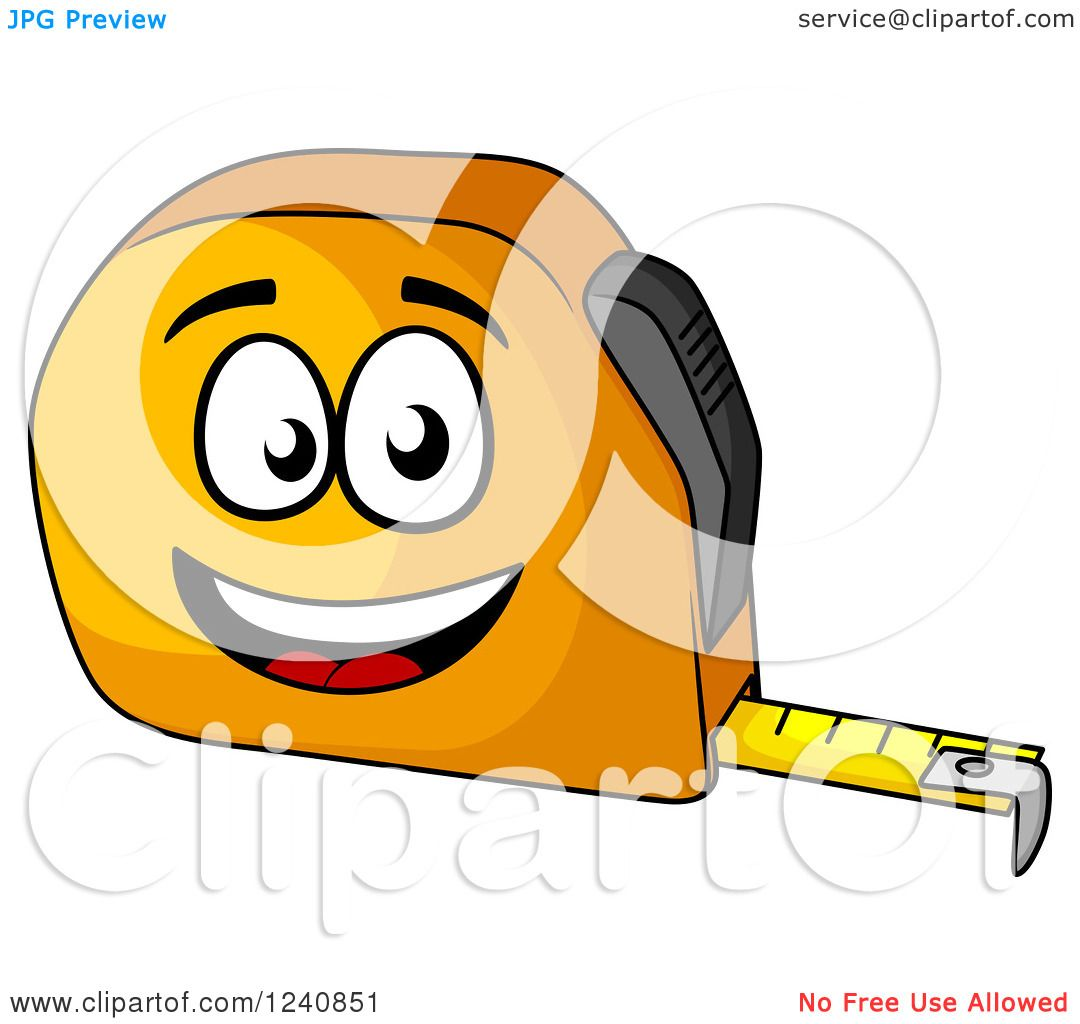 1080x1024 Clipart Of A Happy Tape Measure