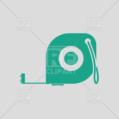 400x400 Icon Of Green Tape Measure On Gray Background Royalty Free Vector