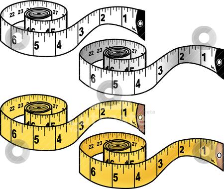 450x380 Measuring Tape Stock Vector