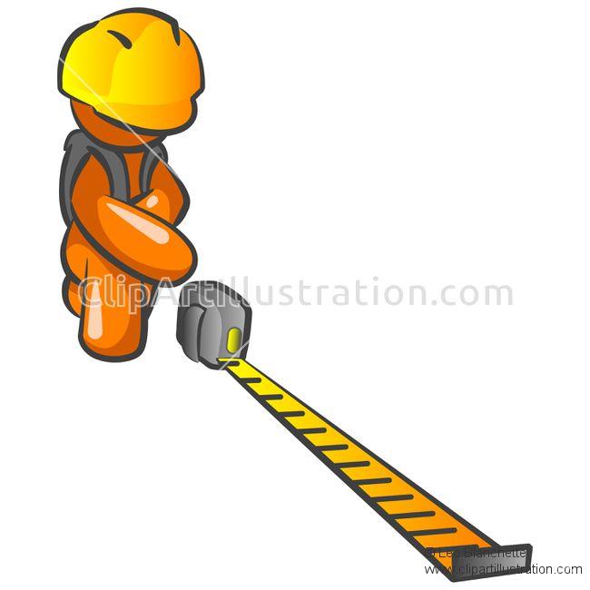 650x650 Orange Man Construction Worker Measuring