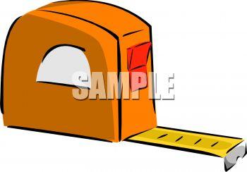 350x244 Orange Carpenters Tape Measure