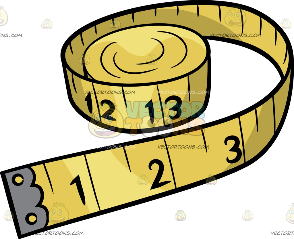1024x831 A Tape Measure Cartoon Clipart Vector Toons