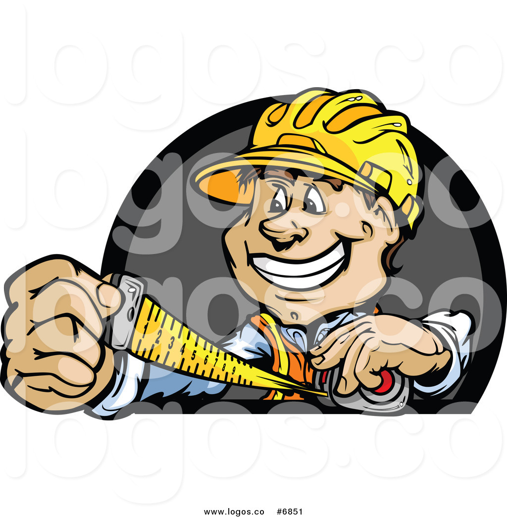 1024x1044 Royalty Free Clip Art Vector Logo Of A Happy Construction Worker