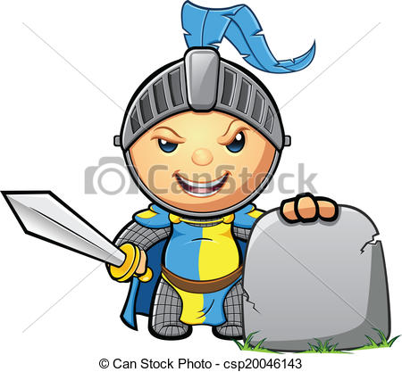 450x417 Blue Amp Yellow Knight. A Cute Medieval Knight Character In Eps
